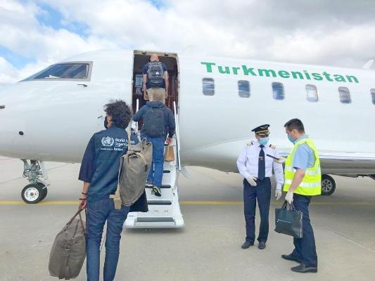 BSGG-niň wekiliýeti Türkmenistana «Türkmenhowaýollarynyň» ýörite uçary bilen gelýär