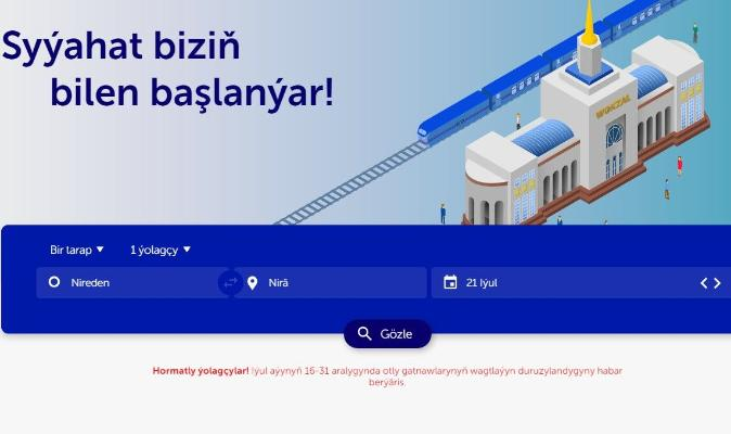 «Türkmendemirýollary» ýurt boýunça otly gatnawyny bes etmegini 31-nji iýula çenli uzaltdy