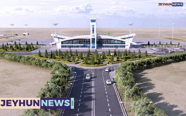 В новом аэропорту Керки уже забетонирована взлетно-посадочная полоса