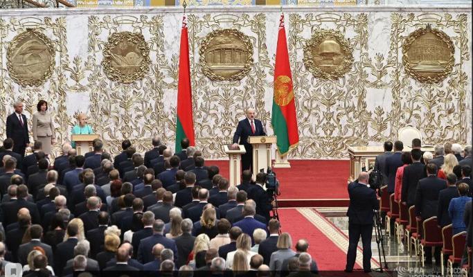 Gurbanguly Berdimuhamedow A.Lukaşenkony Prezident wezipesine girişmegi bilen gutlady