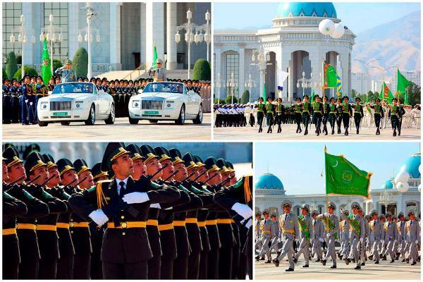 Туркменские военнослужащие получили обновлённую парадную форму