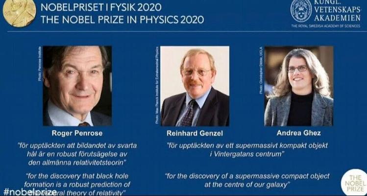 Нобелевская премия по физике присуждена за исследования черных дыр