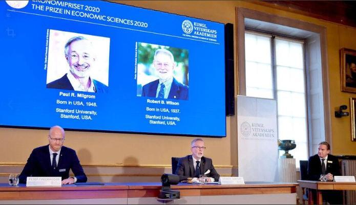 Ykdysadyýet boýunça Nobel baýragynyň eýeleri yglan edildi