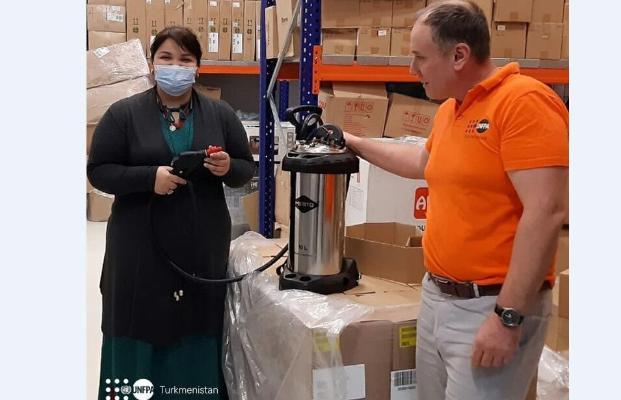 UNFPA поставил в Туркменистан 300 распылителей для дезинфекции