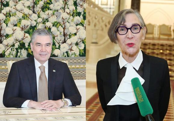Fransiýanyň ilçisi Türkmenistanyň Prezidentine ynanç hatyny gowşurdy