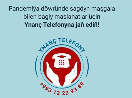 Türkmenistanda saglyk meseleleri boýunça ynanç telefony işe başlady