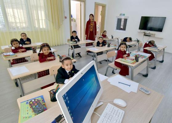 В Ашхабаде проводится конкурс на звание самого чистого детского сада и школы