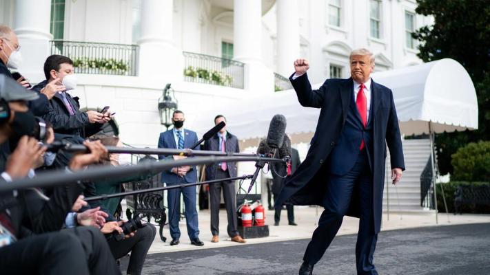Tramp ABŞ-nyň prezident saýlawynda ýeňşini bellemäge taýýarlanýar