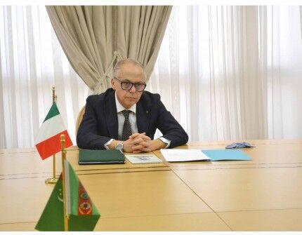 Italiýanyň Türkmenistandaky täze bellenen Ilçisi R.Meredow bilen duşuşdy