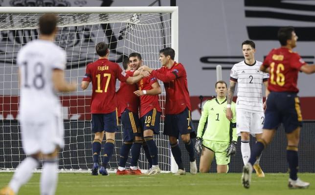 Сборная Испании в Лиге наций разгромила Германию и вышла в финальную стадию турнира