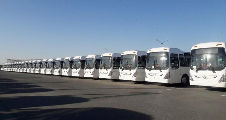 Awgust-oktýabr aýlarynda Türkmenistana 339 sany «Hyundai» awtobuslary getirildi