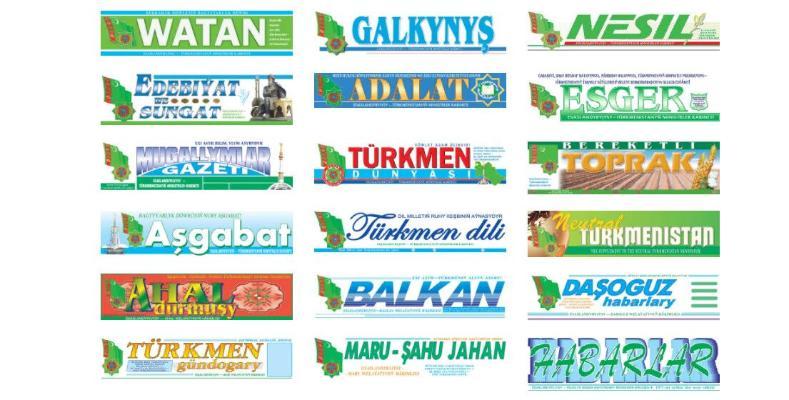 Türkmenistanda käbir metbugat neşirleri birleşdirilip, umumy sany azaldylar