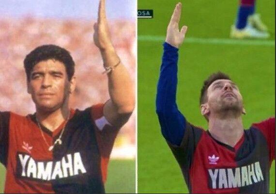 Messi Maradonanyň hatyrasyna eden hereketi üçin jezalandyryldy