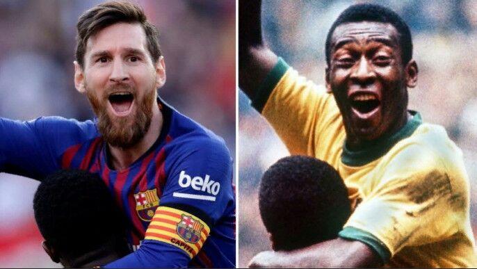 Messi bir klubda uran gollarynyň sany boýunça Peläniň yzyndan ýetdi