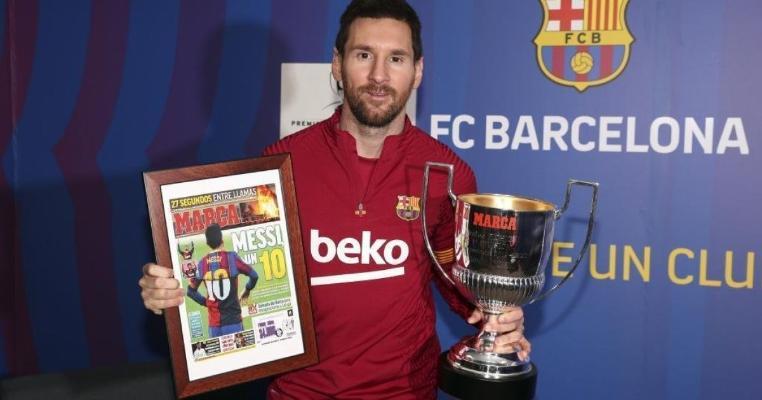 Messi karýerasynda 7-nji gezek La Liganyň iň köp gol geçiren oýunçysy boldy