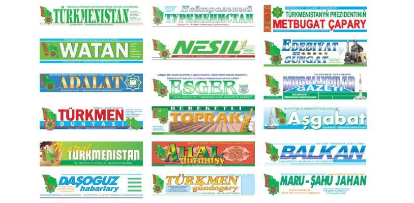 Türkmenistanda käbir gazetleriň baş redaktorlarynyň orunbasary wezipesi ýapyldy