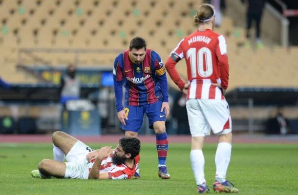 Messi 12 oýna çenli çetleşdirilip bilner