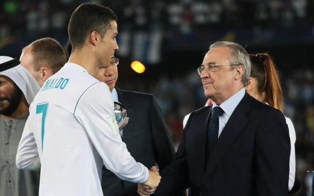 "Kriştianu Ronaldu Turinde Madridiň ""Realynyň"" prezidenti bilen duşuşdy"