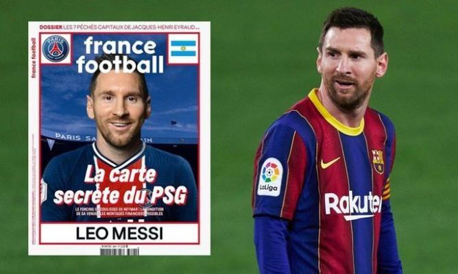Messi «France Football» žurnalynyň sahabynda «PSŽ-niň» eşiginde peýda boldy