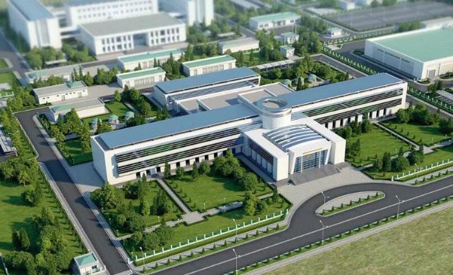 Türkmenistanyň Prezidenti Ahal welaýatynyň edara ediş merkeziniň gurluşygyna baryp gördi