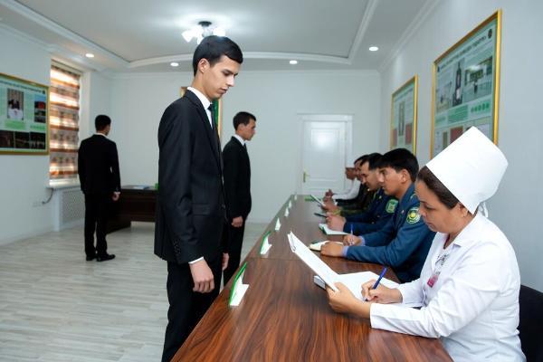 Об организации призыва в Туркменистан