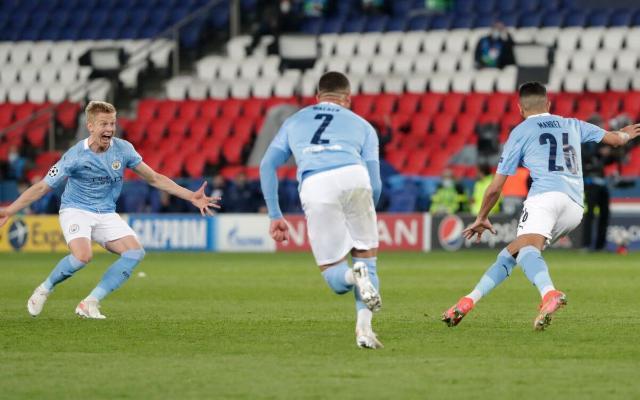 В первом матче полуфинала ЛЧ «Манчестер Сити» обыграл на выезде «ПСЖ»