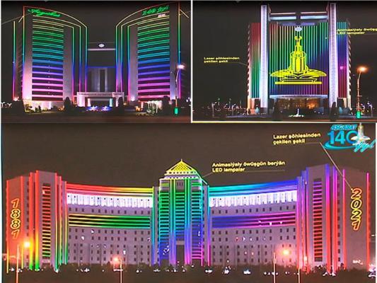 Ашхабад в День города украсят красочной иллюминацией