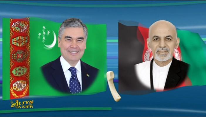 Türkmenistanyň Prezidenti owgan kärdeşi bilen telefon arkaly gepleşikleri geçirdi
