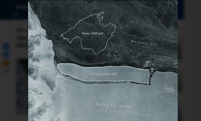 Dünýädäki iň uly aýsberg Antarktidadan bölünip aýryldy