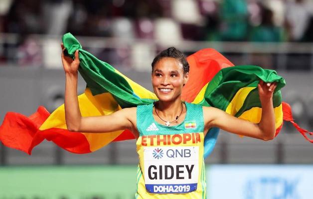 Эфиопская спортсменка побила мировой рекорд в беге на 10 000 м
