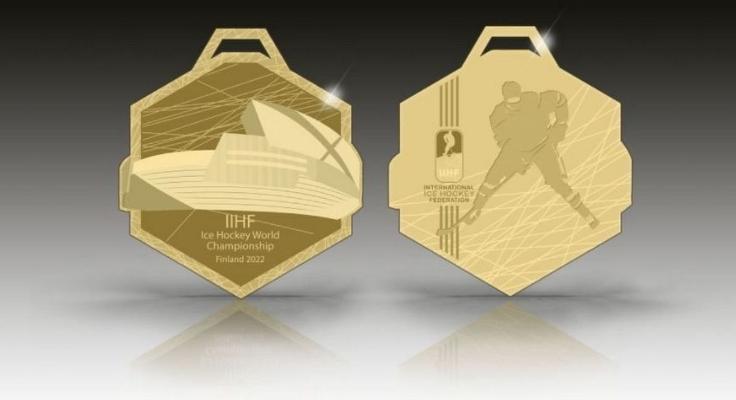 IIHF представил дизайн медалей ЧМ по хоккею, который пройдет в Финляндии