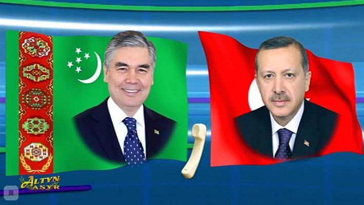 Президент Турции Эрдоган поздравил туркменского лидера с днём рождения