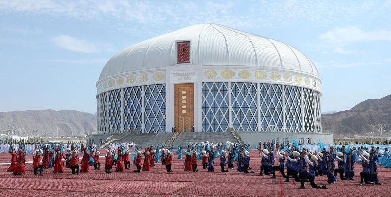 В Балканабате состоялось торжественное открытие здания «Türkmeniň ak öýi»