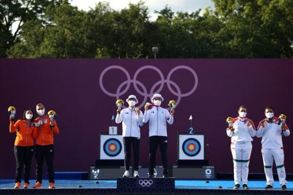 Günorta Koreýanyň milli ýygyndysy garyşykda ýaý bilen atmakda altyn medal gazandy