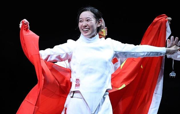 Китайская шпажистка Сунь Ивэнь завоевала золотую олимпийскую медаль