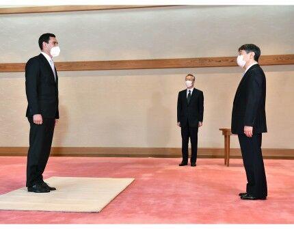 Император Японии Нарухито принял во дворце Сердара Бердымухамедова