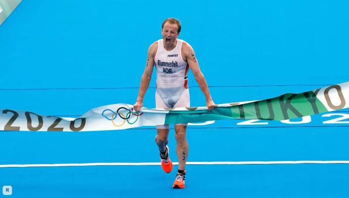 Norwegiýaly Blummenfel triatlon boýunça Olimpiýa oýunlarynyň altyn medalyny gazandy