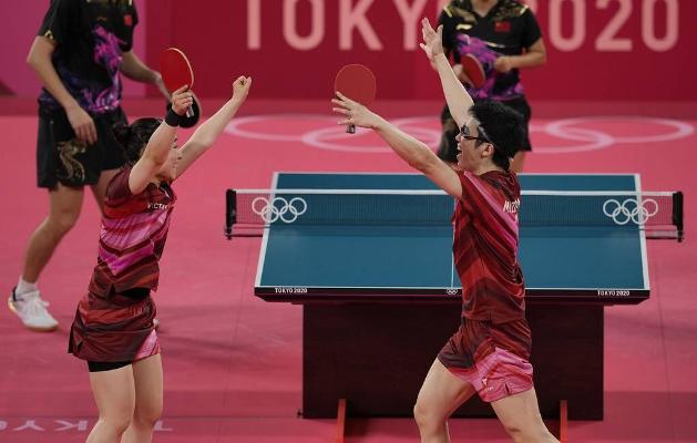 Ýaponiýaly Mizutani bilen Ito garyşykda stolüsti tennis boýunça Olimpiýa çempionlary boldular
