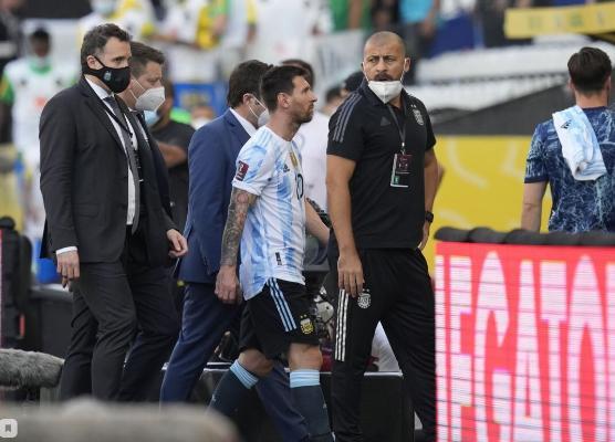 Braziliýa-Argentina futbol duşuşygy polisiýa tarapyndan togtadyldy