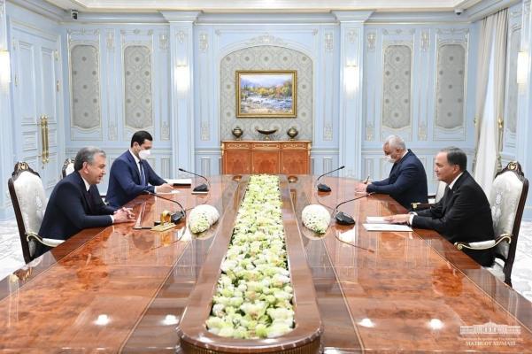 Şawkat Mirziýoýew Türkmenistanyň wise-premýerini kabul etdi