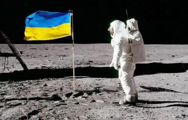Ukraina milli baýdagyny Aýa çykarmak isleýär
