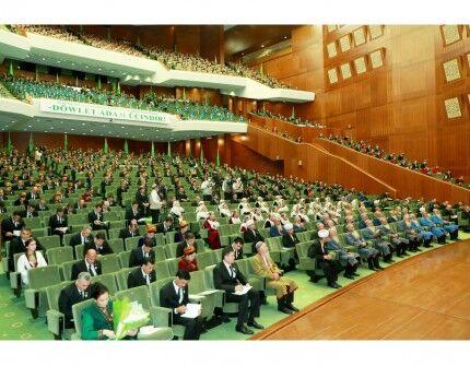 Aşgabatda Türkmenistanyň Milli Geňeşiniň Halk maslahatynyň mejlisi geçirildi