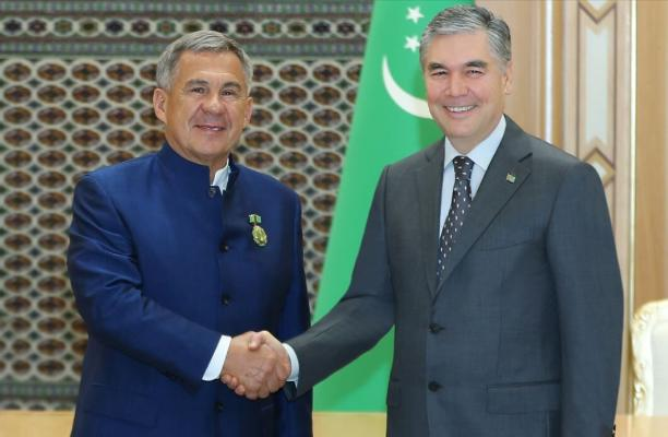 Президент Татарстана РФ Минниханов удостоился ордена Туркменистана